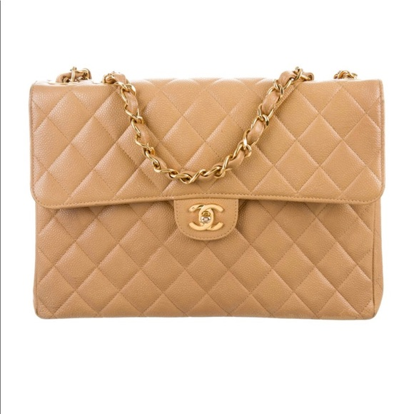 be5757519275 CHANEL Handbags - Chanel Vintage Jumbo Caviar Flap Bag